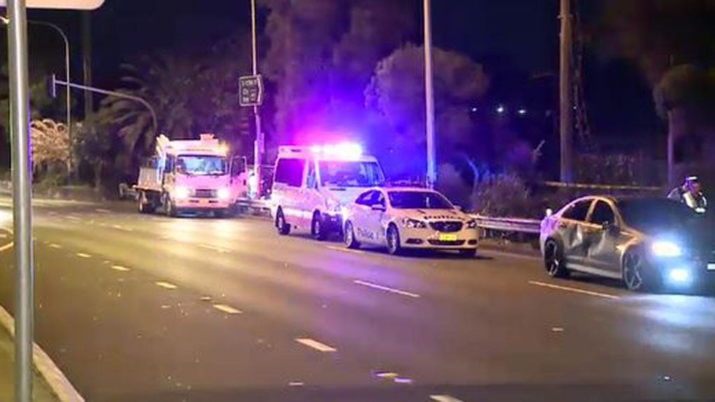 The driver of the Holden Commodore was treated for shock at the scene. (9NEWS)