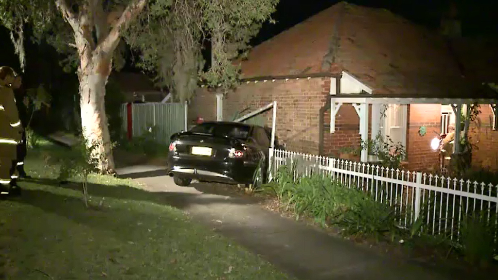 Young girl avoids injury after car smashes into her Sydney bedroom