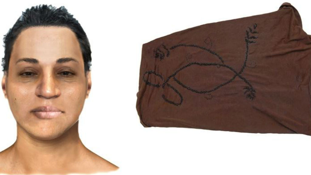 Police believe a distinct brown headscarf could hold a clue to identify the woman. (Vic Police)