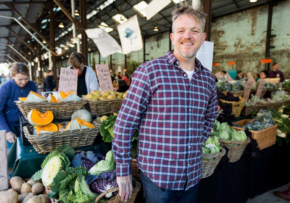 Mike McEnearny at Carriageworks Farmer's Markets. Image: Supplied