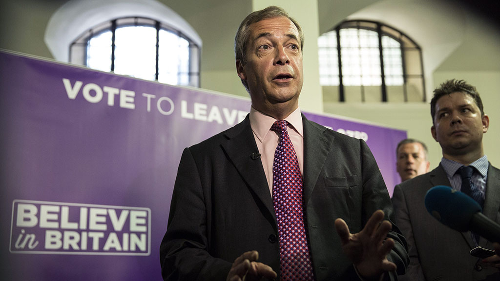 Nigel Farage, leader of the anti-EU UK Independence Party, said he's confident his side will win the referendum. (AAP)