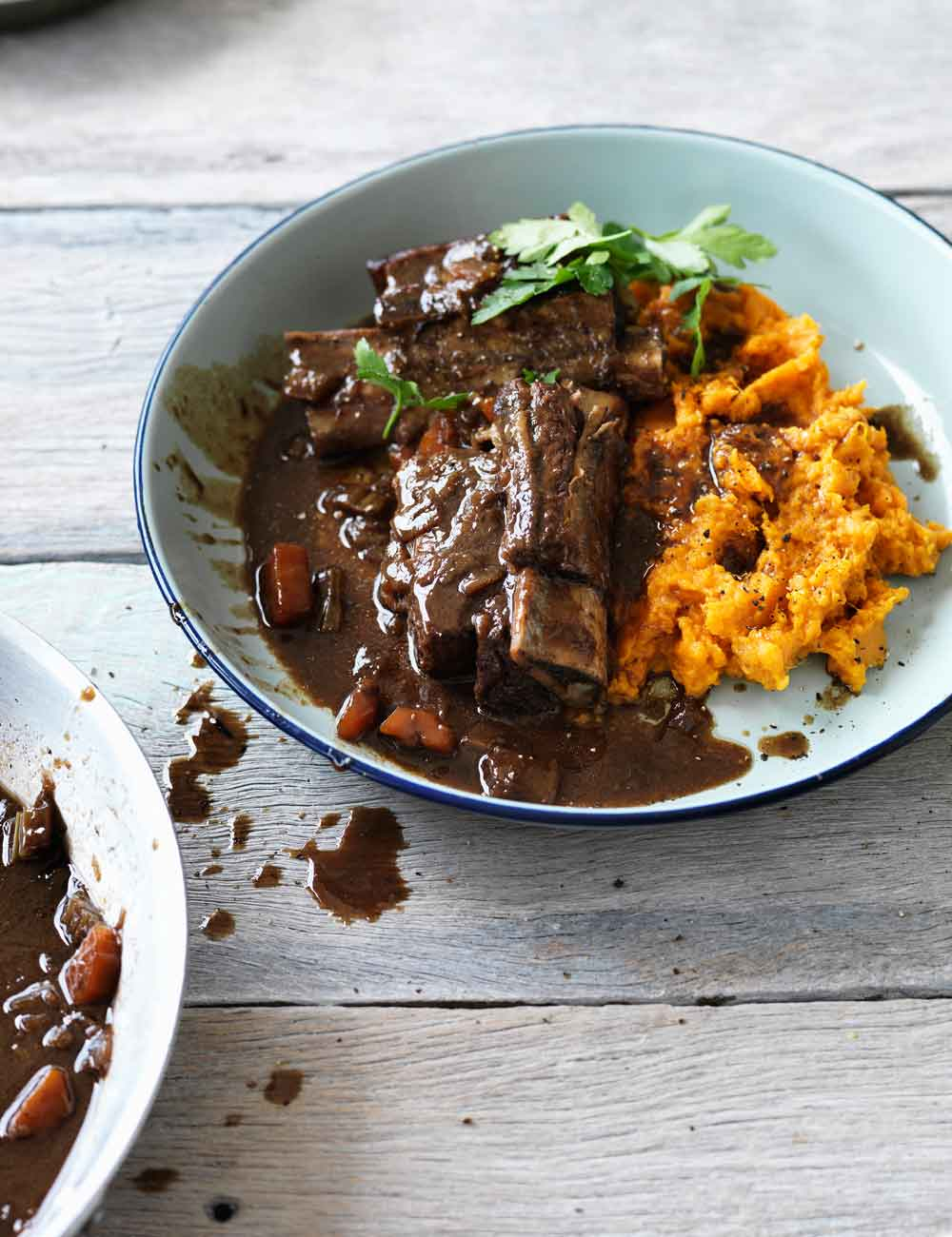 Hayden Quinn's beer braised beef short ribs with sweet potato mash
