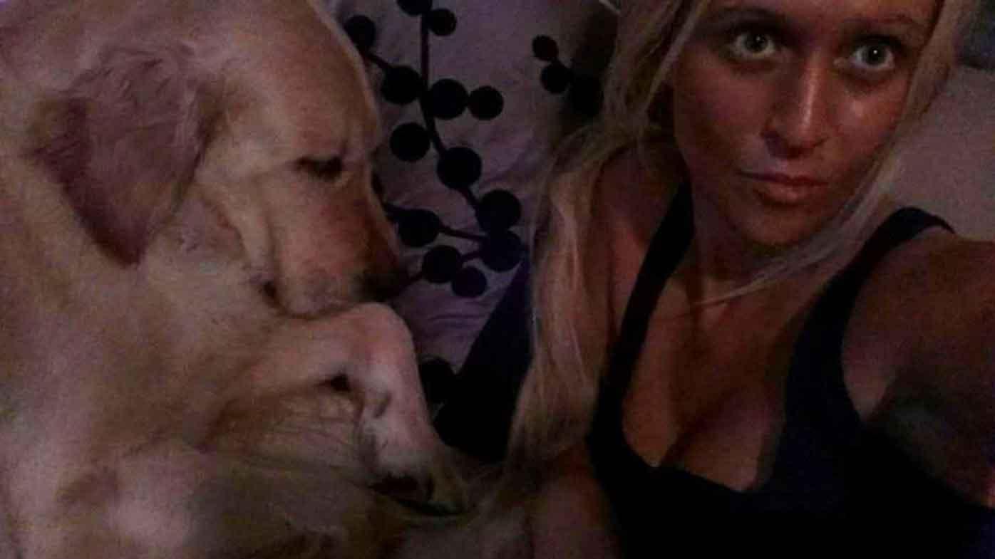 A Facebook photo of Renee Tarbuck with her pet dog. (Facebook)