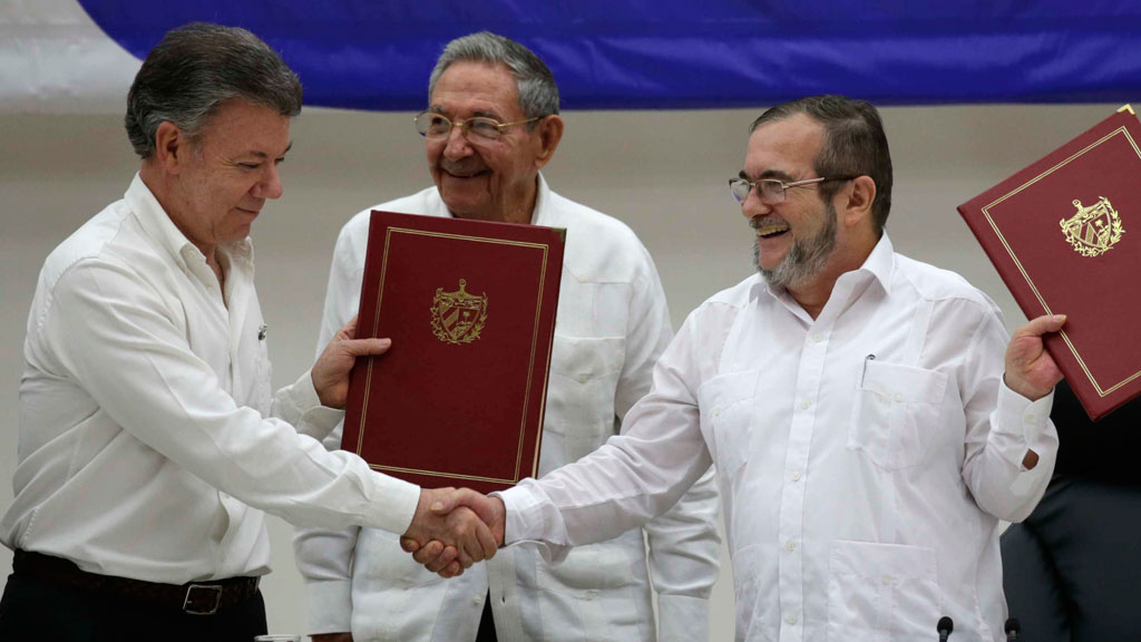 Tears of joy for Colombia ceasefire