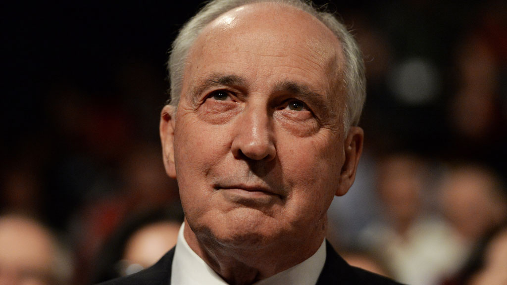 Former Prime Minister Paul Keating at the Labor party launch in western Sydney. (AAP)
