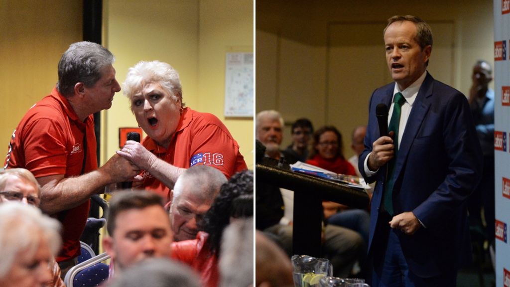 Bill Shorten's Caboolture town hall meeting gets rowdy