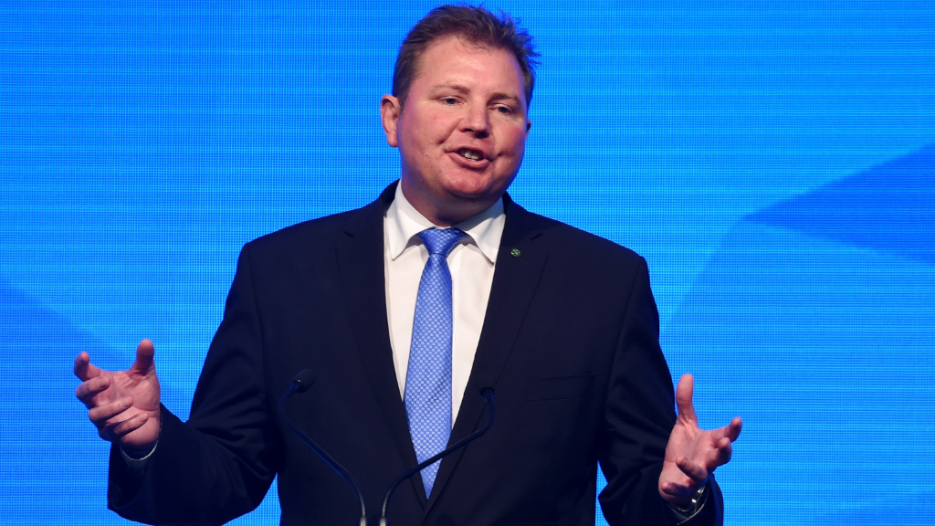 Federal Member for Reid Craig Laundy addressed attendees. (AAP)