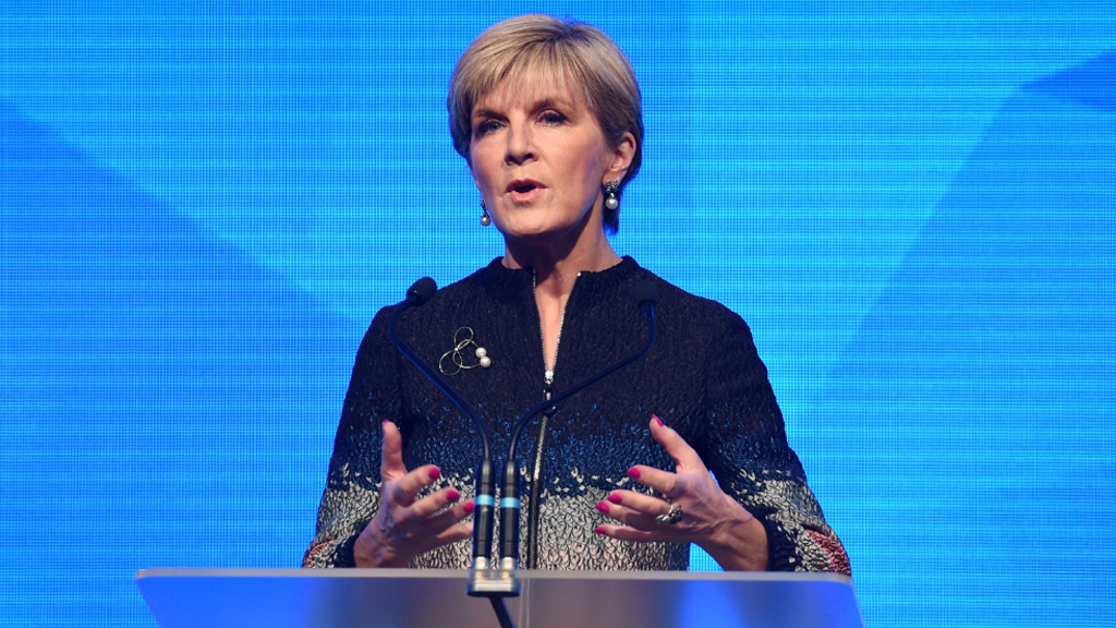 Julie Bishop at the launch. (AAP)
