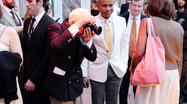 Fashion photographer Bill Cunningham. (AFP)