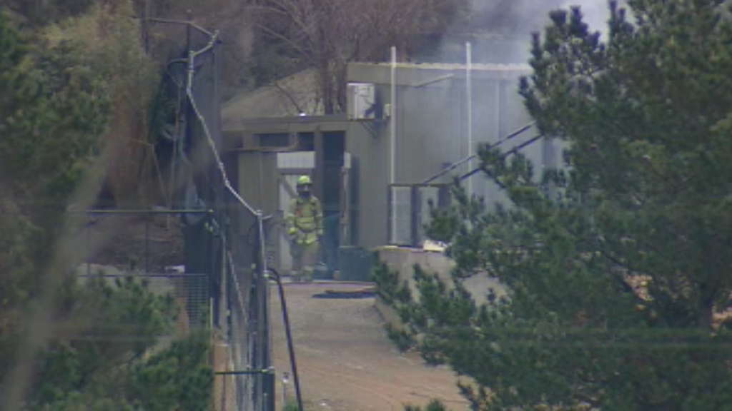The zoo remained open during the fire. (9NEWS)
