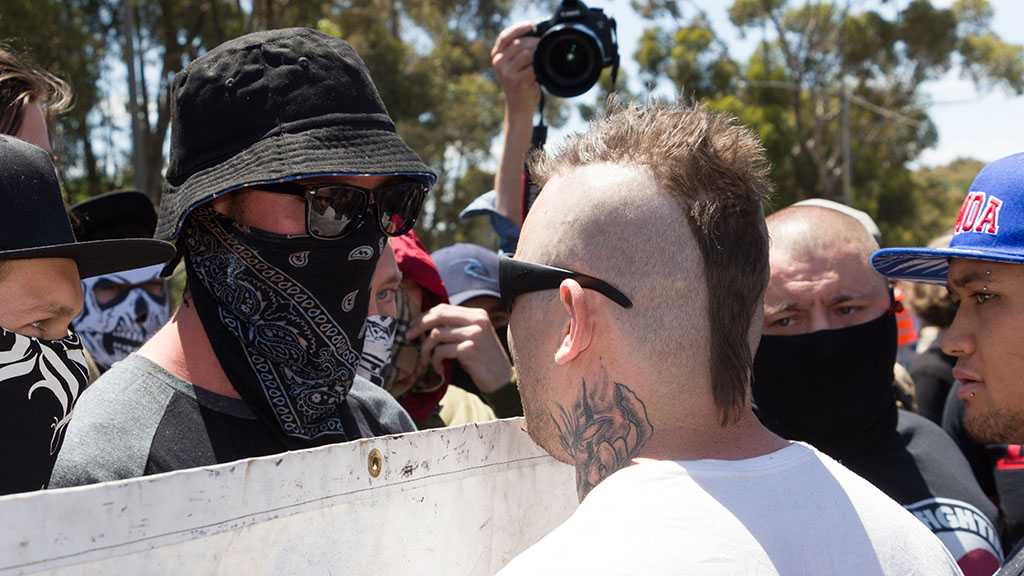 """Victorian Premier Daniel Andrews has labelled masked protesters as """"cowardly"""". (AAP)"""