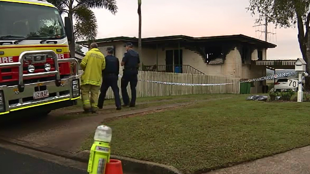 Fire crews risked their lives to pull the girl from the bedroom. (9NEWS)