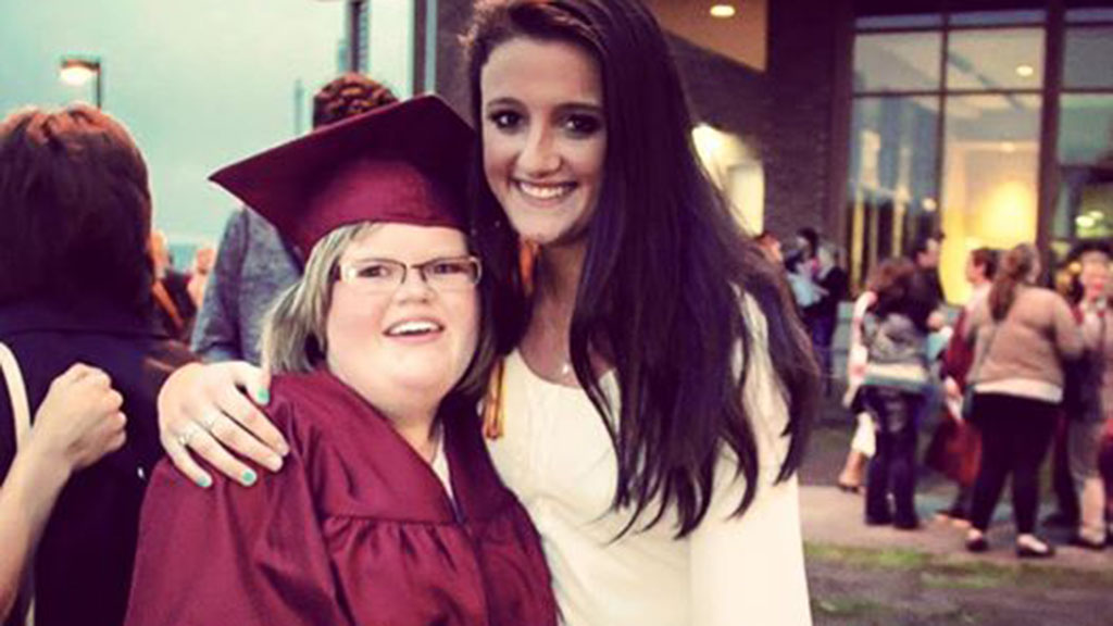 Doctors told Ms Long's family she would not reach the age of five, but she is now 19 years old and recently graduated from high school. (Facebook)