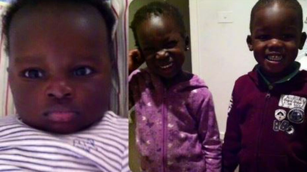 Guode's one-year-old son Bol and his sister Hanger and her twin brother Madit, aged four, died after the car plunged into the water. (Supplied)