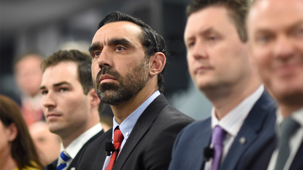 Former Sydney Swans AFL star Adam Goodes attends the opening. (AAP)