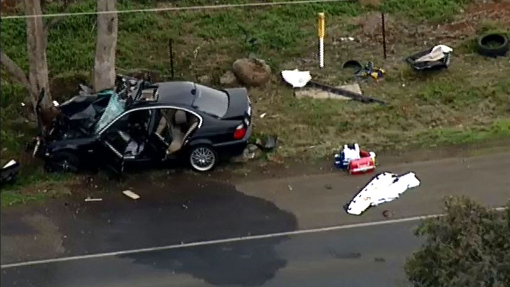 The driver was seriously injured. (9NEWS)