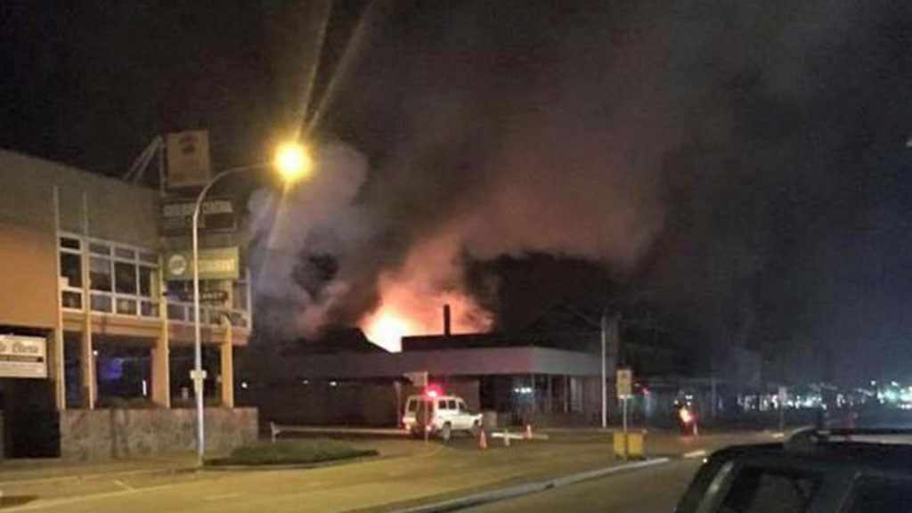 Two men arrested after two building fires in Goulburn