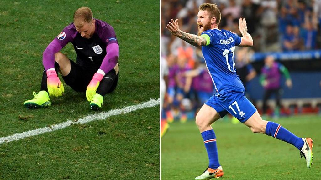 Iceland beat England 2-1. (Twitter / @UEFAEURO)