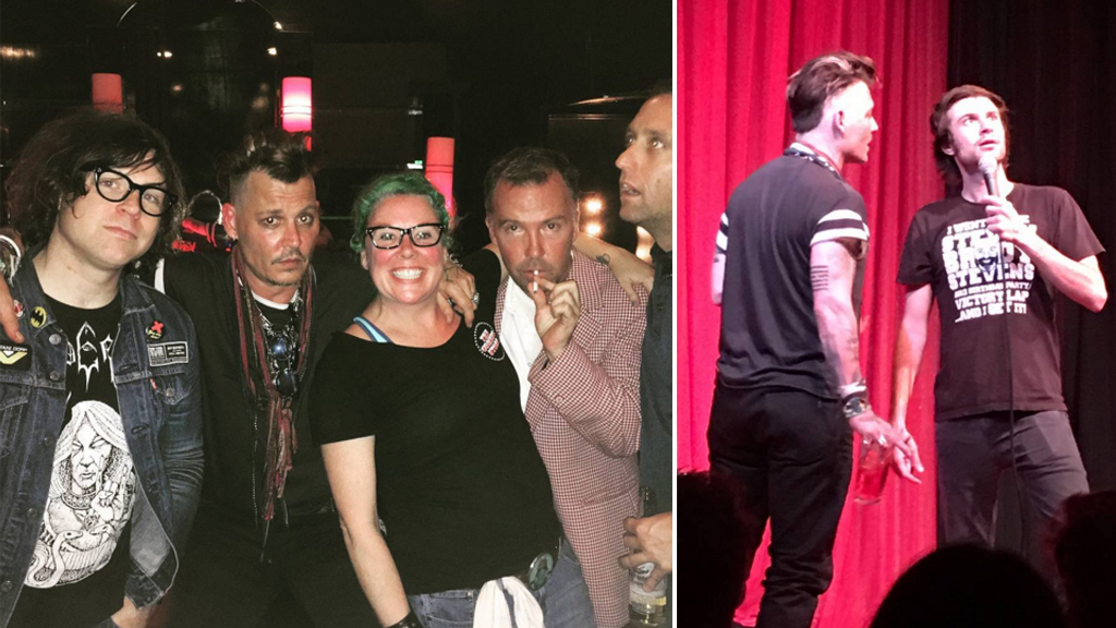 Johnny Depp takes the stage at LA comedy club after Amber Heard abuse claims