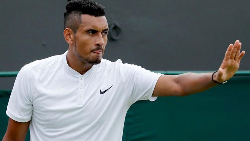 Kyrgios tells member of entourage to 'get out' in blow-up during Wimbledon opener