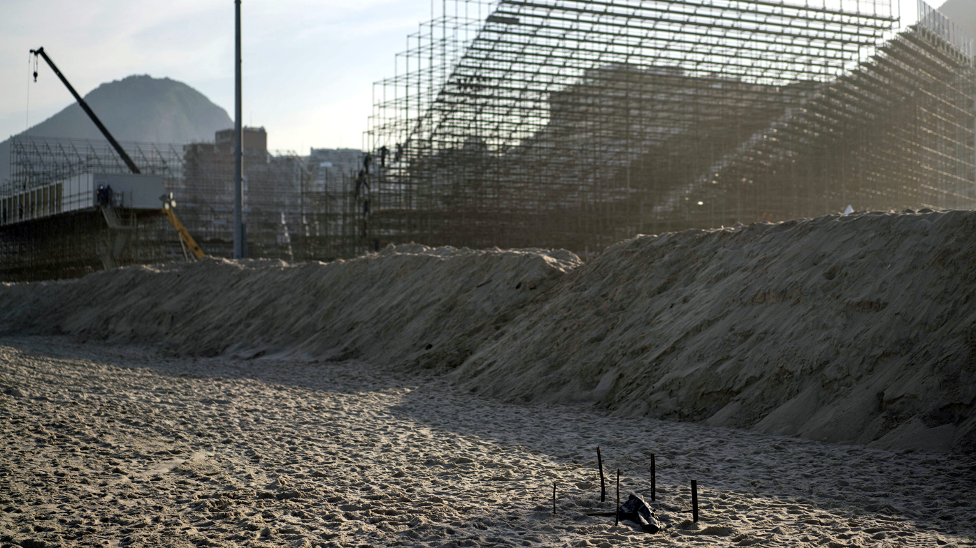 Mutilated body washes up at Rio beach volleyball venue