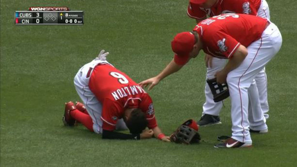 Billy Hamilton trying to get back up (WWOS)