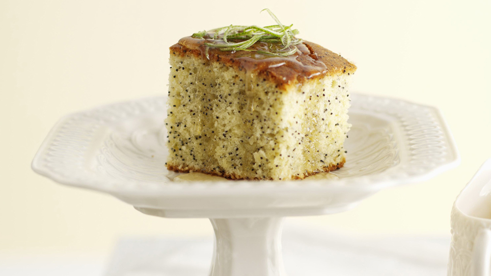 Lime and poppy seed cake