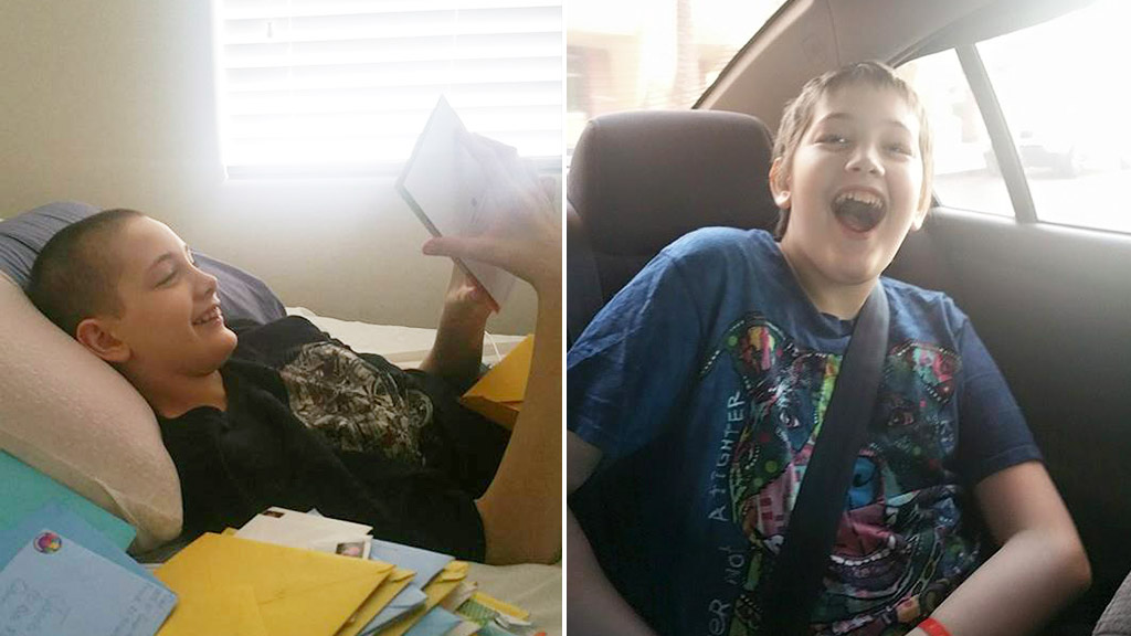 Thousands of birthday cards pour in for terminally ill teen