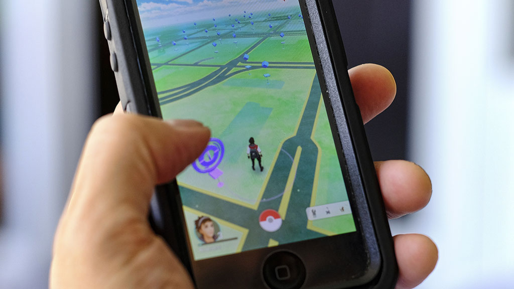 The app design incorporates Google Maps so players can walk around the 'real world' in the game, tracking down Pokemon. (AAP)