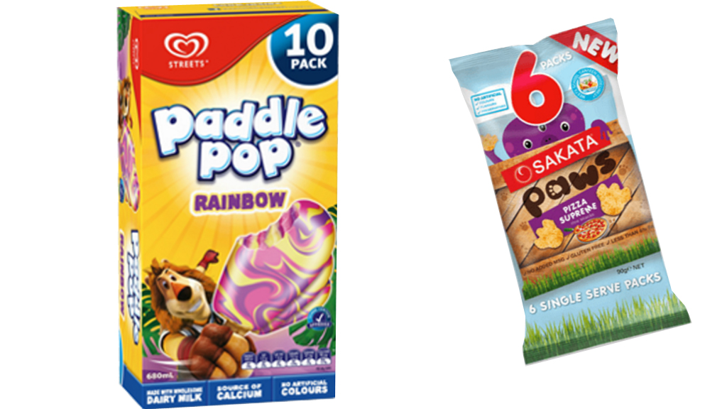 Paddle Pop and Sakata snack makers fined for 'misleading' school canteen health claims