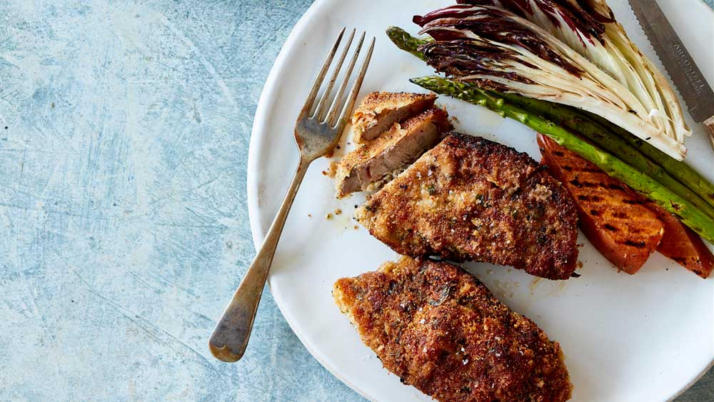 Herb, panko and Parmesan crusted chump chops. Image: LambandBeef.com