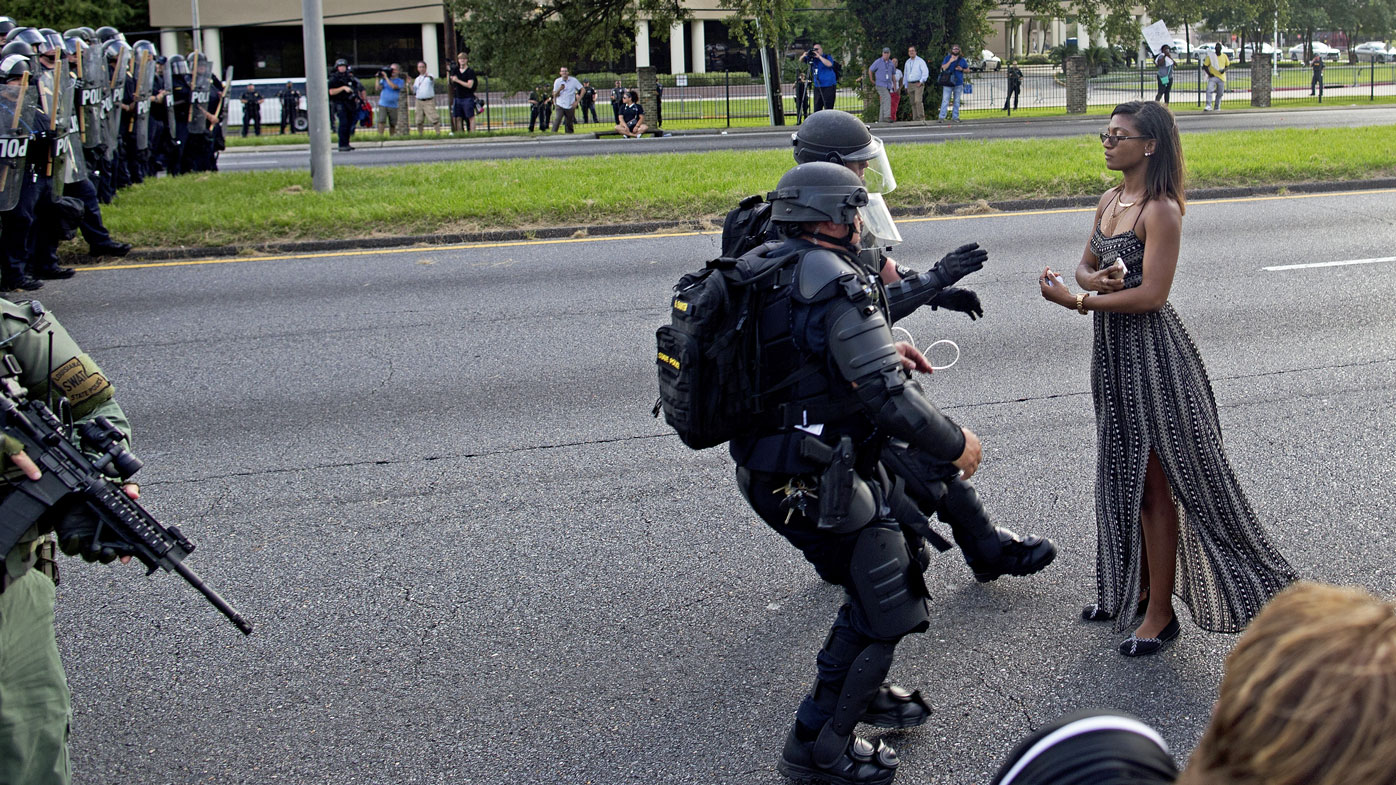 Photograph of black woman's arrest heralded as Black Lives Matter movement's 'defining' image