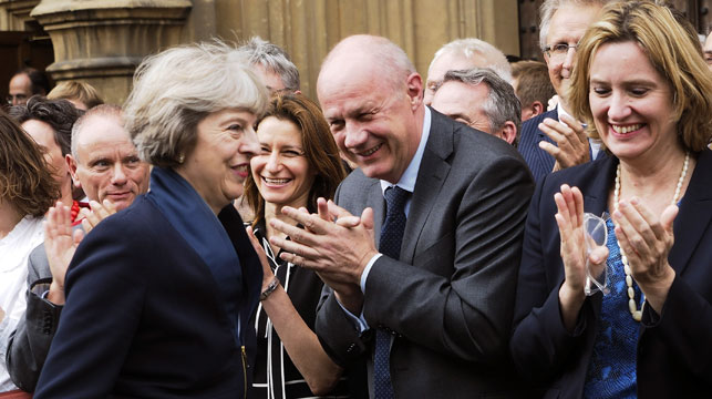 Theresa May will assume Britain's top job this week after he main rival Andrea Leadsom dropped out. (AAP)