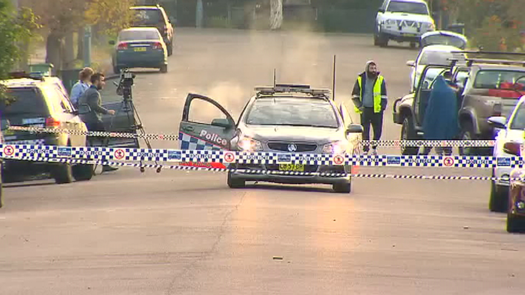 Relatives and friends clashed with police after shooting. (9NEWS)