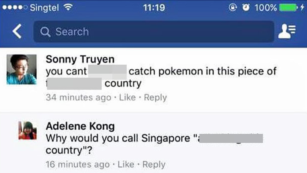 Expat sacked after online rant about Singapore not having Pokémon Go