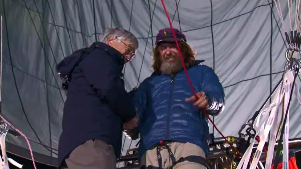 Fedor Konyukhov lifted off from Northam, WA. (9NEWS)