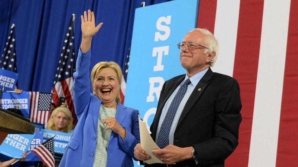 Bernie Sanders endorses former rival Hillary Clinton for president
