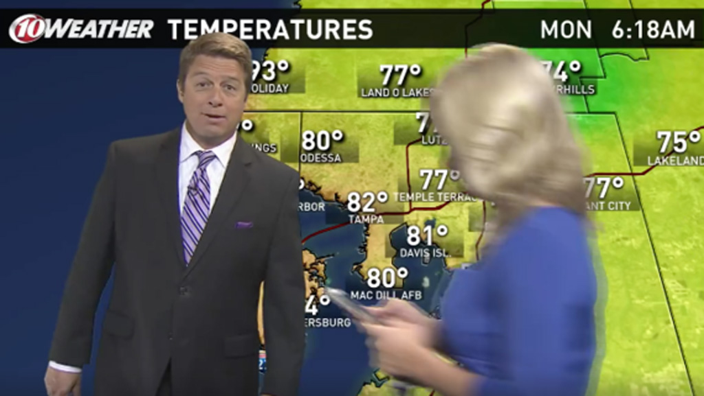US news anchor walks through colleague's weather forecast while playing Pokémon Go