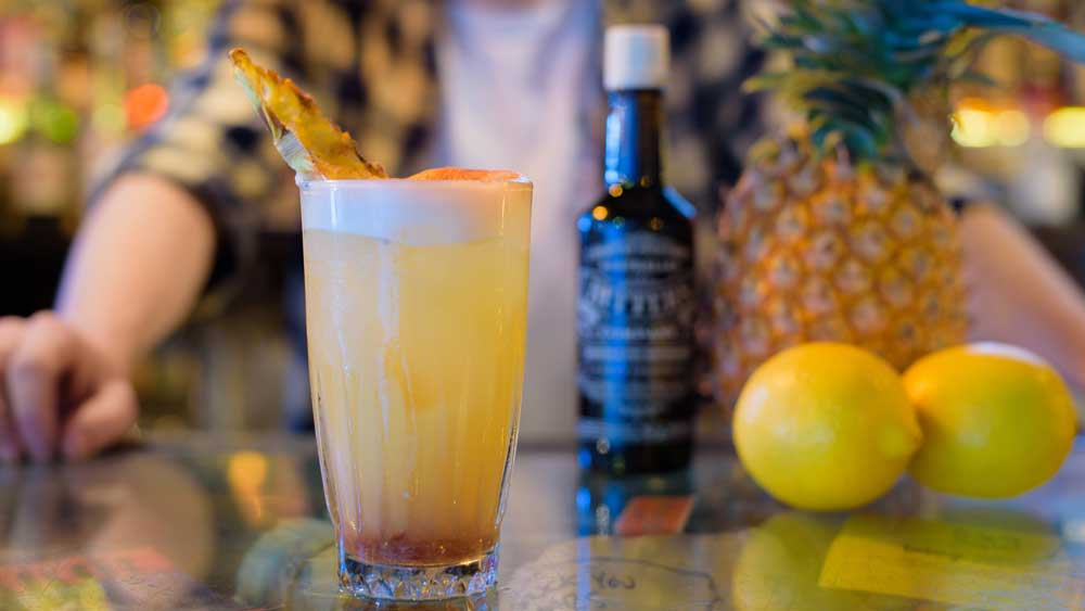 Pocket Bar's Faded in Barbados pineapple mocktail. Image: Australian Bitters