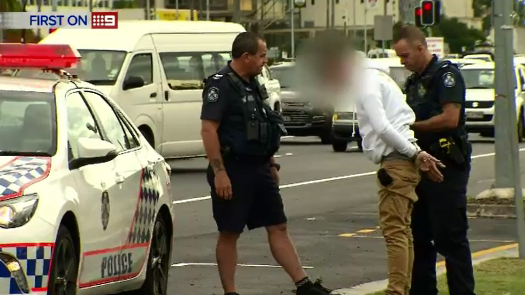 The male driver, 30, sustained minor injuries. (9NEWS)