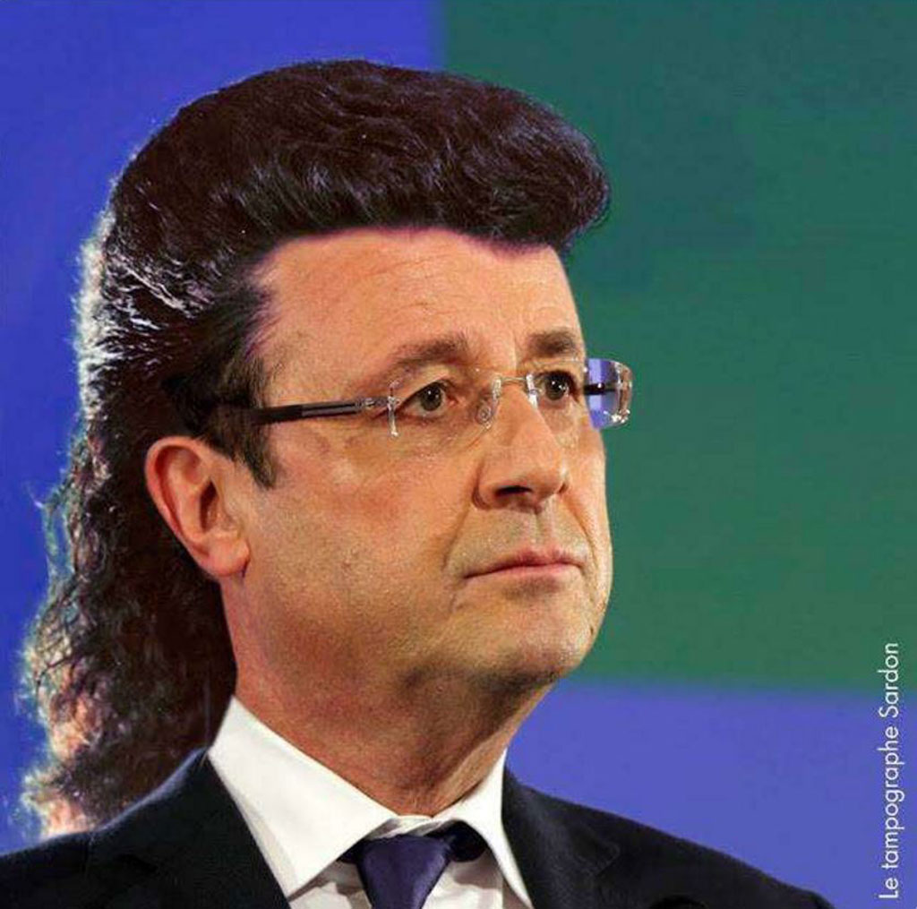 People have taken to Twitter to give the French President new hairstyles (Twitter)