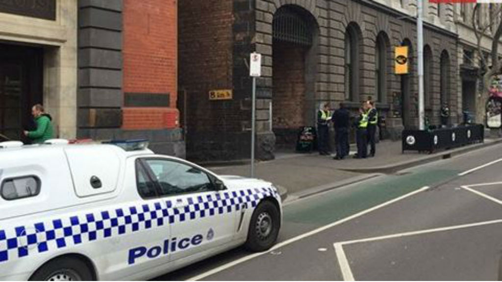 A heavy police presence remains at the scene. (9NEWS)