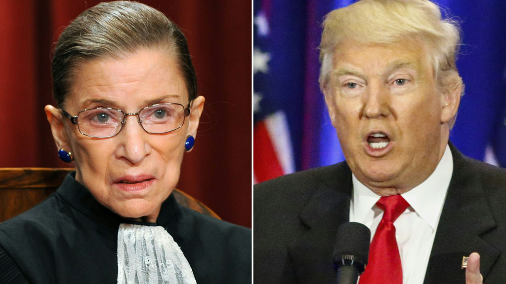 Supreme Court judge sorry for branding Trump a 'faker'
