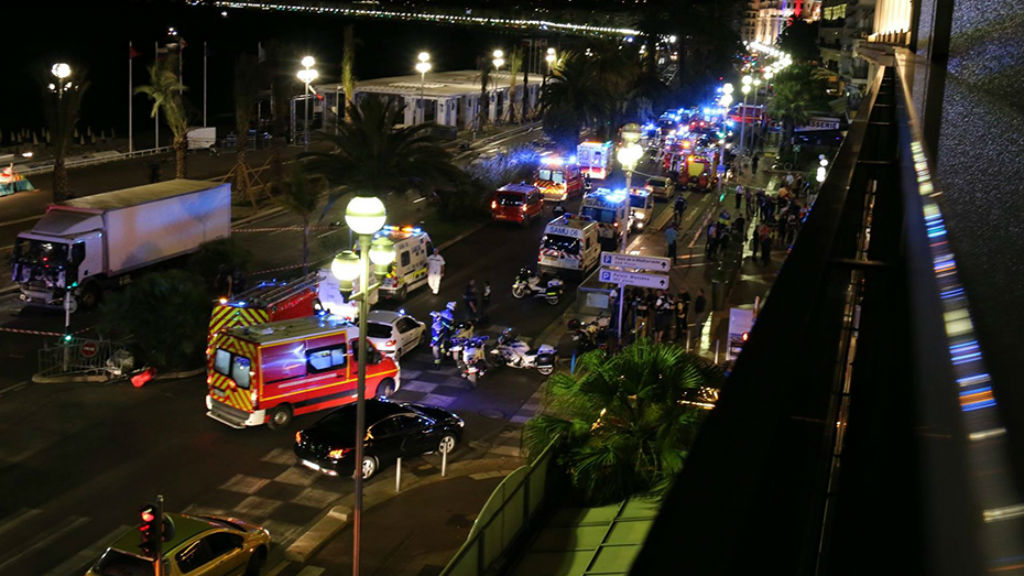 Photos from the scene of the Bastille Day terror attack. (Facebook/Sasha Goldsmith)