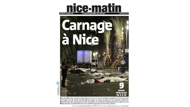 French newspaper front pages