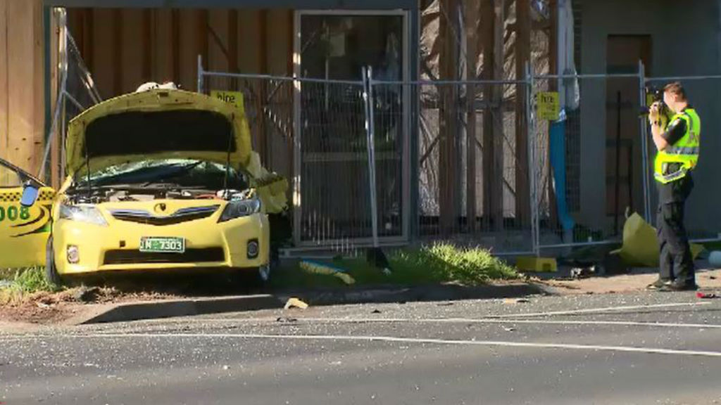 The driver of the taxi died at the scene. (9NEWS)