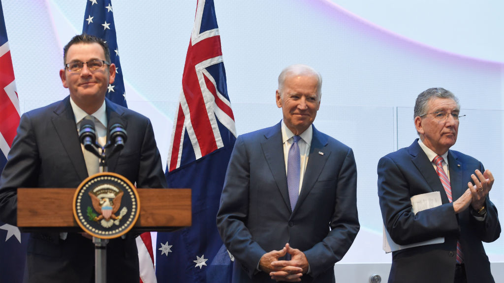 Biden praises US, Australian optimism