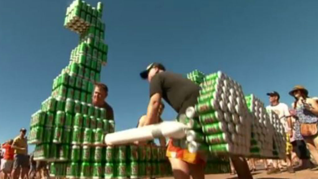 Darwin's Beer Can Regatta has been running since 1974. (9NEWS)