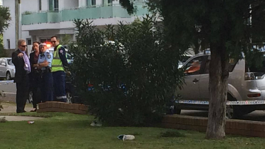 The woman was struck after a car left the road on Moate Avenue. (Rebecca Resuta/9news.com.au)