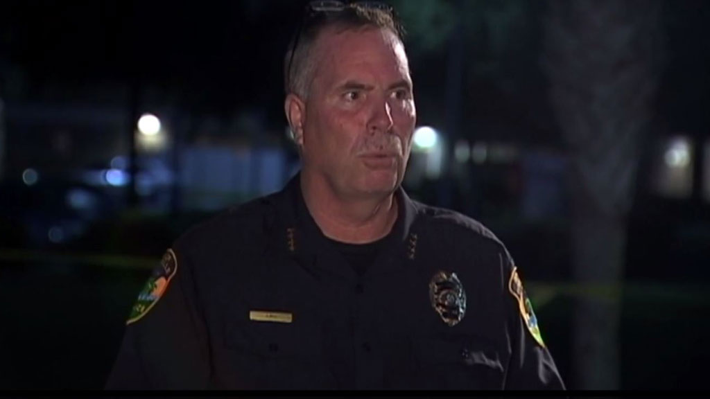 Titusville Police Department addresses the media (Twitter)